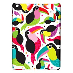 Colorful Toucan Retro Kids Pattern Bird Animals Rainbow Purple Flower Ipad Air Hardshell Cases by Jojostore