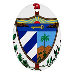 Coat Of Arms Of Cuba Oval Ornament (two Sides) by abbeyz71