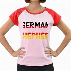 German Shepherd Name In Flag Women s Cap Sleeve T-Shirt by TailWags