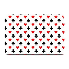 Curly Heart Card Red Black Gambling Game Player Plate Mats by Jojostore