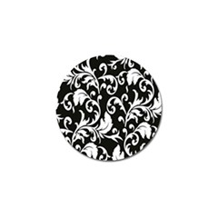 Clasic Floral Flower Black Golf Ball Marker (10 Pack) by Jojostore