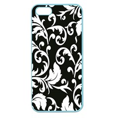 Clasic Floral Flower Black Apple Seamless Iphone 5 Case (color) by Jojostore