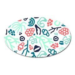Coral Leaf Flower Sea Oval Magnet by Jojostore