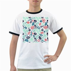 Coral Leaf Flower Sea Ringer T Shirts by Jojostore