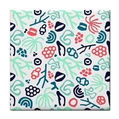 Coral Leaf Flower Sea Face Towel by Jojostore