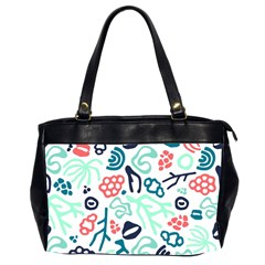 Coral Leaf Flower Sea Office Handbags (2 Sides)  by Jojostore