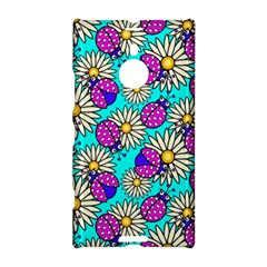 Bunga Matahari Serangga Flower Floral Animals Purple Yellow Blue Pink Nokia Lumia 1520 by Jojostore