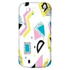 Design Elements Illustrator Elements Vasare Creative Scribble Blobs Yellow Pink Blue Samsung Galaxy S3 S Iii Classic Hardshell Back Case by Jojostore