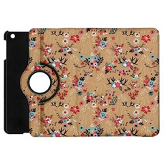 Deer Cerry Animals Flower Floral Leaf Fruit Brown Apple Ipad Mini Flip 360 Case by Jojostore