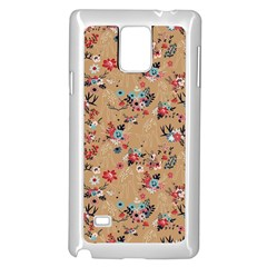 Deer Cerry Animals Flower Floral Leaf Fruit Brown Samsung Galaxy Note 4 Case (white) by Jojostore