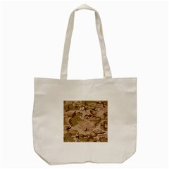 Desert Camo Gulf War Style Grey Brown Army Tote Bag (cream)