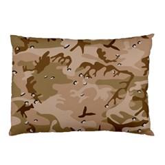 Desert Camo Gulf War Style Grey Brown Army Pillow Case by Jojostore