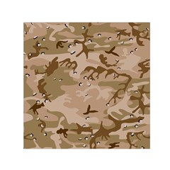 Desert Camo Gulf War Style Grey Brown Army Small Satin Scarf (square) by Jojostore