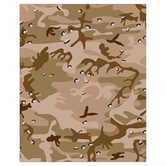 Desert Camo Gulf War Style Grey Brown Army Drawstring Bag (small) by Jojostore