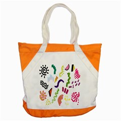 Design Elements Illustrator Elements Vasare Creative Scribble Blobs Accent Tote Bag by Jojostore