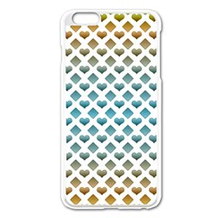 Diamond Heart Card Purple Valentine Love Blue Yellow Gold Apple Iphone 6 Plus/6s Plus Enamel White Case by Jojostore