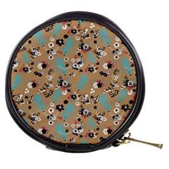 Deer Cerry Animals Flower Floral Leaf Fruit Brown Black Blue Mini Makeup Bags by Jojostore