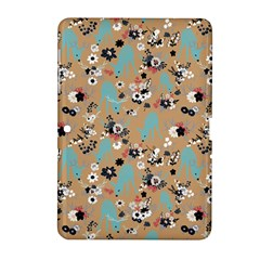 Deer Cerry Animals Flower Floral Leaf Fruit Brown Black Blue Samsung Galaxy Tab 2 (10 1 ) P5100 Hardshell Case  by Jojostore