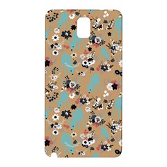 Deer Cerry Animals Flower Floral Leaf Fruit Brown Black Blue Samsung Galaxy Note 3 N9005 Hardshell Back Case by Jojostore