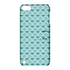 Diamond Heart Card Valentine Love Blue Apple Ipod Touch 5 Hardshell Case With Stand by Jojostore