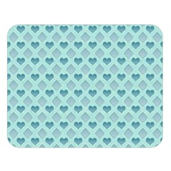 Diamond Heart Card Valentine Love Blue Double Sided Flano Blanket (large)  by Jojostore