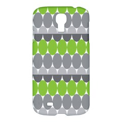 Egg Wave Chevron Green Grey Samsung Galaxy S4 I9500/i9505 Hardshell Case by Jojostore