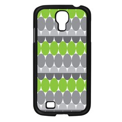 Egg Wave Chevron Green Grey Samsung Galaxy S4 I9500/ I9505 Case (black) by Jojostore