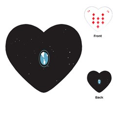 Earth Universe Natural Space Galaxy Playing Cards (Heart)