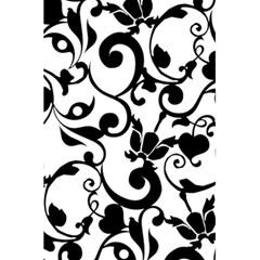 Floral Flower Leaf Black 5 5  X 8 5  Notebooks by Jojostore