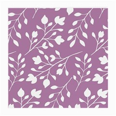 Floral Flower Leafpurple White Medium Glasses Cloth by Jojostore