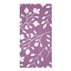 Floral Flower Leafpurple White Shower Curtain 36  X 72  (stall)  by Jojostore