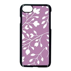 Floral Flower Leafpurple White Apple Iphone 7 Seamless Case (black) by Jojostore