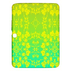 Floral Flower Leaf Yellow Blue Samsung Galaxy Tab 3 (10 1 ) P5200 Hardshell Case  by Jojostore