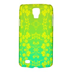 Floral Flower Leaf Yellow Blue Galaxy S4 Active by Jojostore