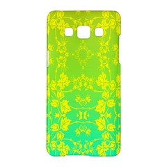 Floral Flower Leaf Yellow Blue Samsung Galaxy A5 Hardshell Case  by Jojostore