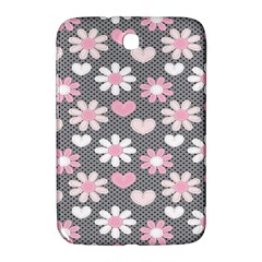 Flower Floral Rose Sunflower Pink Grey Love Heart Valentine Samsung Galaxy Note 8 0 N5100 Hardshell Case  by Jojostore