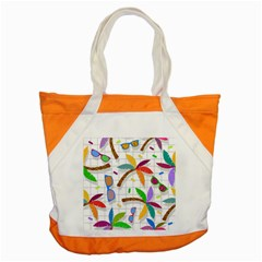 Glasses Coconut Tree Color Rainbow Purple Yellow Orange Green Red Pink Brown Line Accent Tote Bag by Jojostore