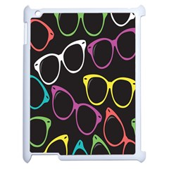 Glasses Color Pink Mpurple Green Yellow Blue Rainbow Black Apple Ipad 2 Case (white) by Jojostore
