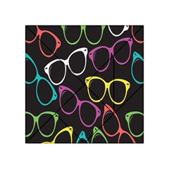Glasses Color Pink Mpurple Green Yellow Blue Rainbow Black Acrylic Tangram Puzzle (4  X 4 ) by Jojostore