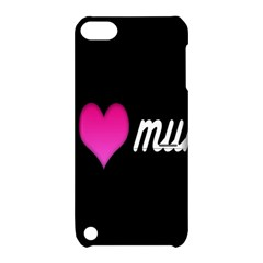 I Love Moom Mum Pink Valentine Heart Apple Ipod Touch 5 Hardshell Case With Stand by Jojostore
