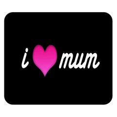 I Love Moom Mum Pink Valentine Heart Double Sided Flano Blanket (small)  by Jojostore