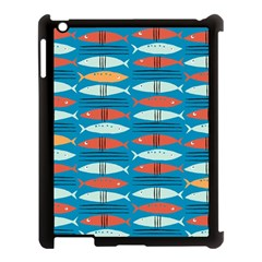 Go Fish  Fishing Animals Sea Water Beach Red Blue Orange Grey Apple Ipad 3/4 Case (black) by Jojostore