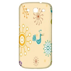 Kids Bird Sun Flower Floral Leaf Animals Color Rainbow Samsung Galaxy S3 S Iii Classic Hardshell Back Case by Jojostore