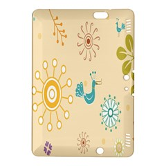 Kids Bird Sun Flower Floral Leaf Animals Color Rainbow Kindle Fire Hdx 8 9  Hardshell Case