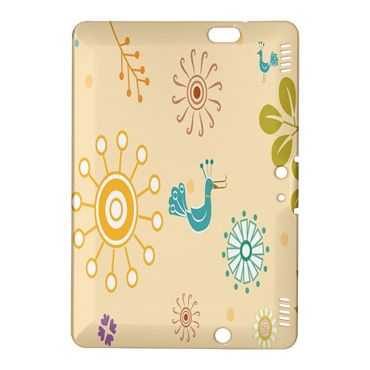 Kids Bird Sun Flower Floral Leaf Animals Color Rainbow Kindle Fire HDX 8.9  Hardshell Case