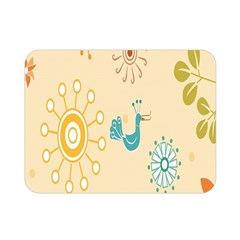 Kids Bird Sun Flower Floral Leaf Animals Color Rainbow Double Sided Flano Blanket (mini)  by Jojostore