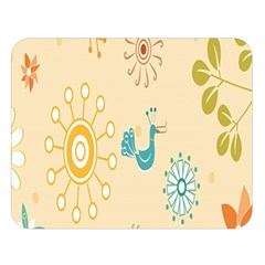 Kids Bird Sun Flower Floral Leaf Animals Color Rainbow Double Sided Flano Blanket (large)  by Jojostore