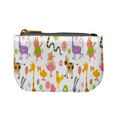 Kids Animal Giraffe Elephant Cows Horse Pigs Chicken Snake Cat Rabbits Duck Flower Floral Rainbow Mini Coin Purses by Jojostore