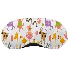 Kids Animal Giraffe Elephant Cows Horse Pigs Chicken Snake Cat Rabbits Duck Flower Floral Rainbow Sleeping Masks by Jojostore