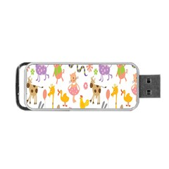 Kids Animal Giraffe Elephant Cows Horse Pigs Chicken Snake Cat Rabbits Duck Flower Floral Rainbow Portable Usb Flash (two Sides) by Jojostore